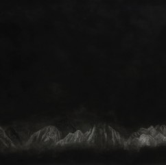 Untitled (Mountain III), 2015, Charcoal on paper, 208x150 cm